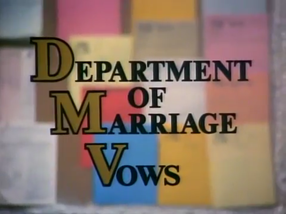 Department of Marriage Vows