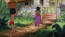 Mowgli is folowing Shanti to the man village.jpg