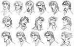 Tangled art character design flynn jin kim