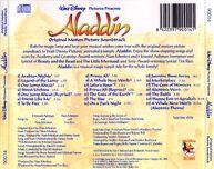 Banda sonora - aladdin (back)