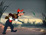 Goofy and duck feather