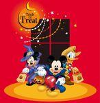 Donald Mickey Minnie Trick or Treat