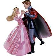 Aurora Dress Pink and Phillip WDCC
