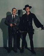 Zorro Guy Williams and Walt Disney