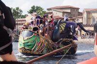 Maleficent and Ursula Boat