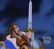 Arthur Holding Excalibur