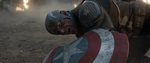Captain America lies battered