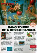 Disney's Chip 'n' Dale Rescue Rangers - Video Game Print Ad - NES