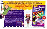 Hunchback Sing Along Topsy Turvy trade print ad BB-1996-04-20