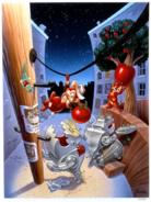 Rescue Rangers textless NES cover art