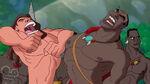 Tarzan and Basuli roaring