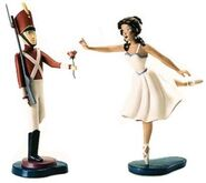 WDCC Toy Soldier and Ballerina statue
