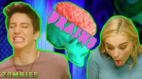 Zombie Brain Food Challenge 😋 ZOMBIES Disney Channel