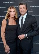Patrick Dempsey wife Jillian at Porsche Design Fest