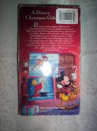 A Disney Christmas Gift VHS Back