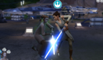 The Sims 4 Star Wars Journey to Batuu - Rey lightsaber duel