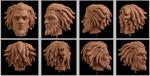Jarek Yeager head sculpture