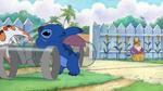 Stitch throws Boomer
