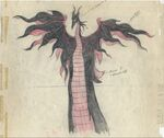 Maleficent Dragon Transformation Concept Art