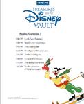 Treasures from The Disney Vault Schedule pdf