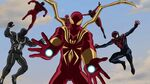 Ultimate Spider-Man - 4x25 - Graduation Day, Part One - Agent Venom, Scarlet Spider, Spider-Man, Iron Spider, Ultimate Spider-Woman and Miels Morales