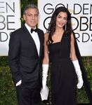 George Clooney and wife Amal at Golden Globes