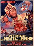 Davy crockett river pirates french poster
