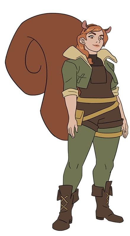 Garota Esquilo