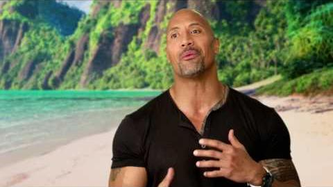 "Moana ""Maui"" On Set Interview - Dwayne Johnson"