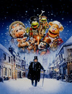 Muppet Christmas Carol poster art