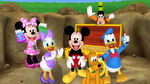 The whole cast mickey's treasure hunt