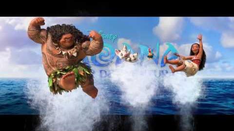 Bastidores de Moana - Um Mar de Aventuras - Dwayne e Lin