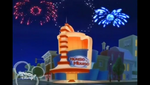 Fireworks outside of House of Mouse