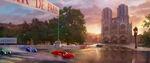 Cars 2- Notre Dame WGP Paris concept art