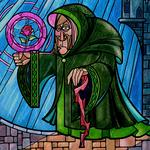 Anciana vidriera