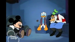 Mickey Donald and Goofy looking sad