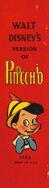 Walt Disney's version of Pinocchio spine