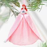 2010 Disney Store Ariel Winter Christmas Ornament Pink Dress