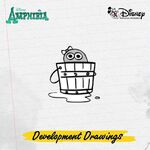 Amphibia development drawings - Polly