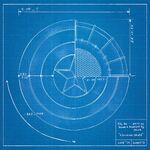 Captain America blueprint-sheet