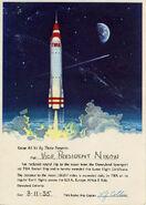 Nixon Rocket to the Moon certificate