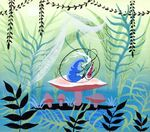 Disney's Alice in Wonderland - Caterpillar Concept Art by Mary Blair - 2