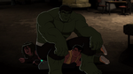 Hulk sitting on Betts and Thad
