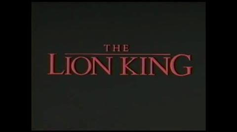 The Lion King - Sneak Peek (from Aladdin 1993 VHS)