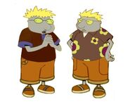 Al and Moo Sleech Twin Brothers from Disney Doug