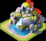 Ba-stone giant waterfall