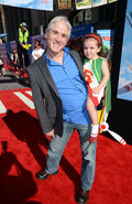 Carlos Alazraqui and daughter Rylee at Planes premiere