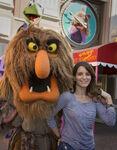 Tina Fey and walkaround Sweetums 2014