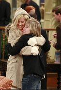 Zack and Maddie hugging