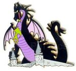 Disney Auctions (P.I.N.S.) - Maleficent as Dragon on Castle
